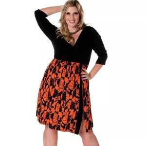 Igigi Dresses & Skirts - IGIGI Taylor Plus Size Orange & Black Dress 18/20