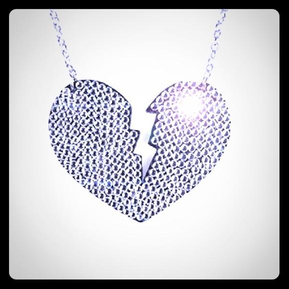 ed06a5f832dc4 Yummy Couture Swarovski Broken Heart Necklace 💔