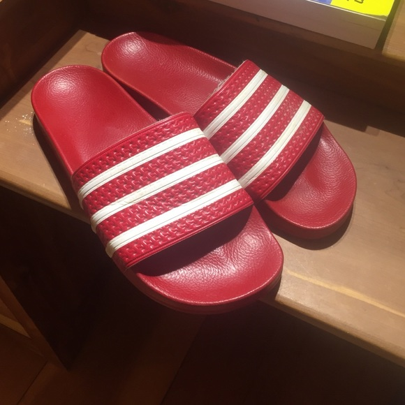 2536b618f0c3 Adidas Other - Men s Red Adidas Adilette Athletic Slides ...
