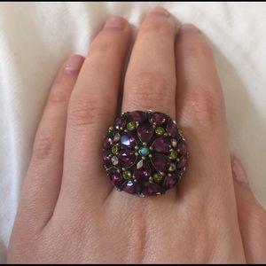 hedi daus Jewelry - Heidi Daus Purple Floral Cocktail Ring