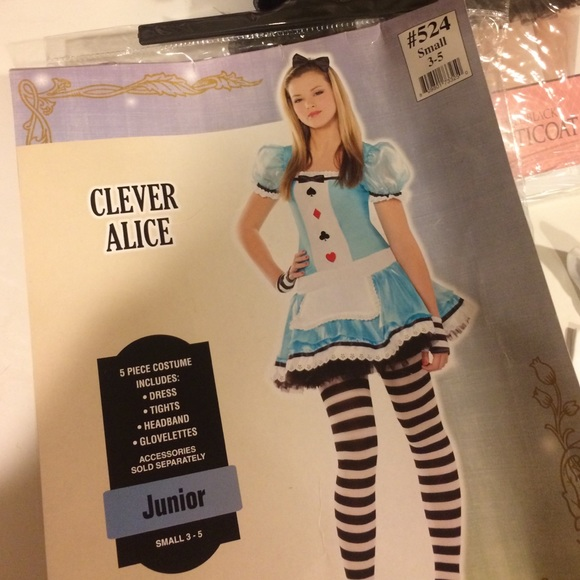 party city Dresses Clever Alice Alice In Wonderland Costume Poshmark