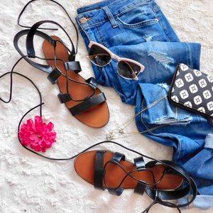 Zara Shoes - 🎉HP!🎉 Zara Basic Collection Lace Up Sandals