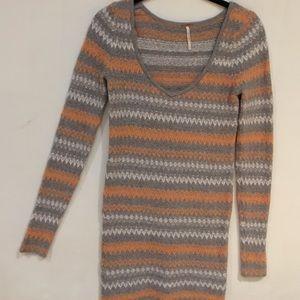 Free People long sleeve sweater dress. Like new! S