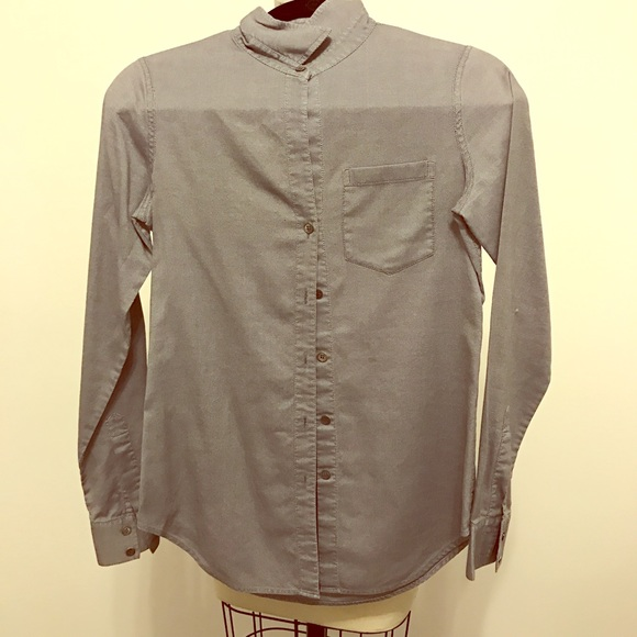 97 off theory tops theory black oxford button down for Black oxford button down shirt