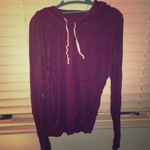 Brandy Melville maroon Layla hoodie