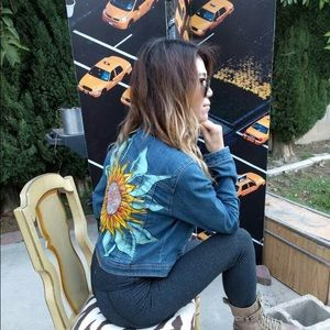 f320563ef47 Jackets   Coats - 🌻not for sale🌻 Sunflower Jean Jacket