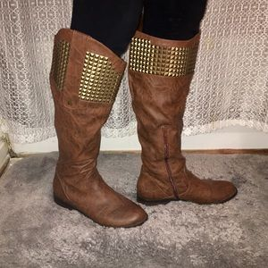 candie s shoes the knee boots on poshmark
