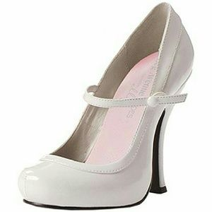 Shoes - New Leg Avenue White Patent leather heels