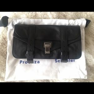Proenza Schouler PS1 Pouchette leather Clutch