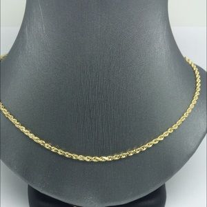 14Kt Gold Rope Chain 18 Inches Long Rope Chain