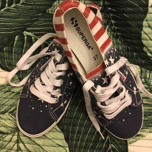Superga Shoes - Suprega American flag shoes