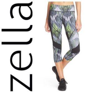 Zella Pants - NEW!  Zella 'fusion' mesh-panel Capri leggings