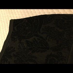 Beautiful thick black skirt.