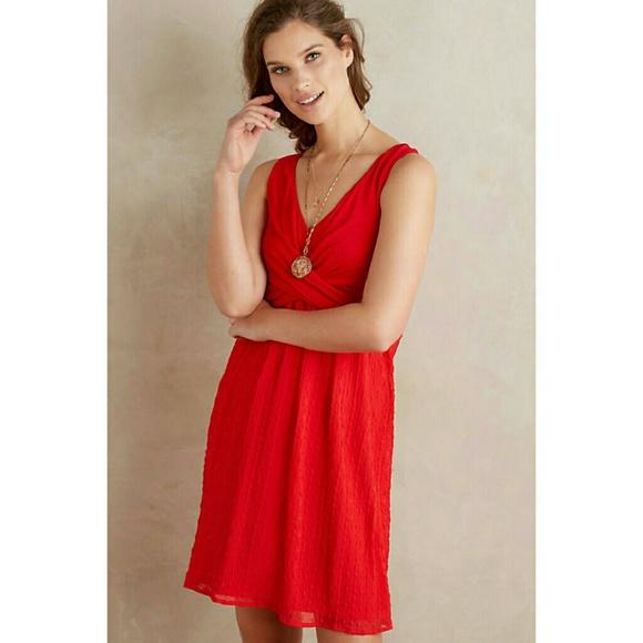 2470c590009 Anthropologie Mia dress by Amadi size XS red