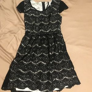 Kensie black and white lace dress