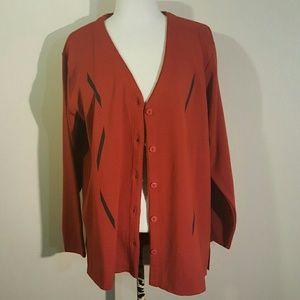 Antonella Sweaters - Burnt Orange Antonella Cardigan