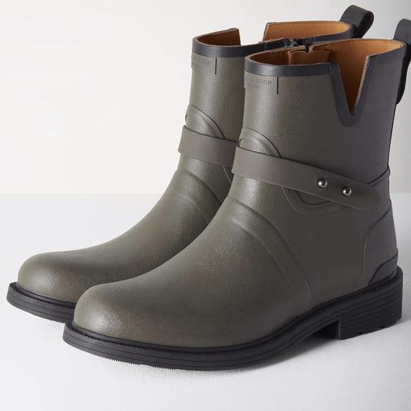 RAG&BONE Woman Moto Rubber Rain Boots Size 38 1Cj8FfGtu