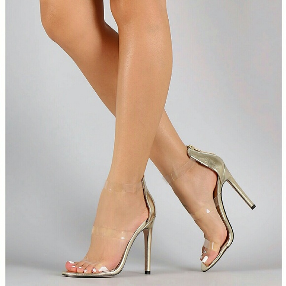 d273d82fcd Gold Clear Stiletto Heels Sandals. NWT. M_58071cb57f0a058db901ca21.  M_58071cb7713fde6bd801d28a. M_58071cb8bf6df5936b01cb18