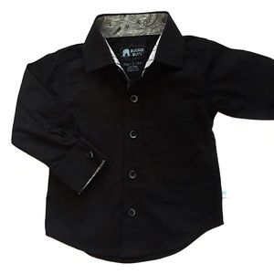 Other - RuggedButts Black Formal Button Down