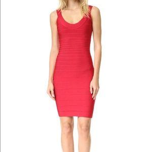Herve Leger Dresses & Skirts - Final sale! Red Herve ledge scoop neck dress