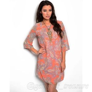 Dresses & Skirts - || SALE || Orange Paisley Shift Dress ||