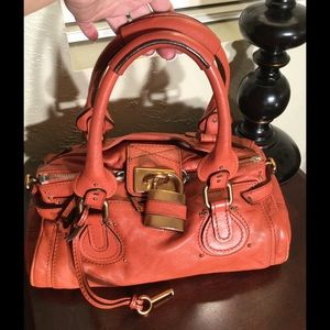 Chloe' Orange Paddington satchel