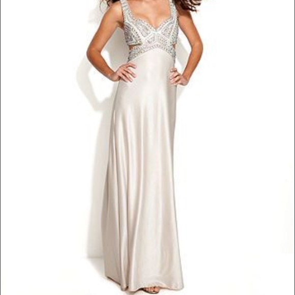 Betsy Adam Dresses Betsy Adam Embellished Cutout Prom Gown