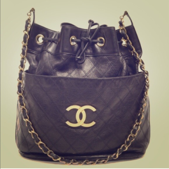 bed9872c5154 CHANEL Handbags - Chanel authentic drawstring bucket bag vintage