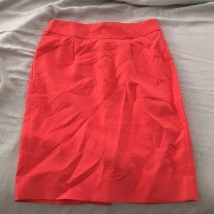 J Crew Neon Pink pencil skirt size 00