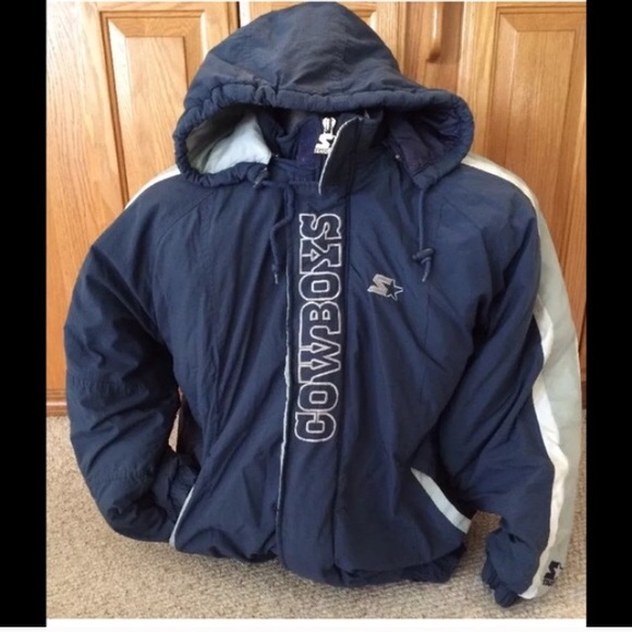 official photos 7da36 110e5 Vintage dallas cowboys starter puffer jacket