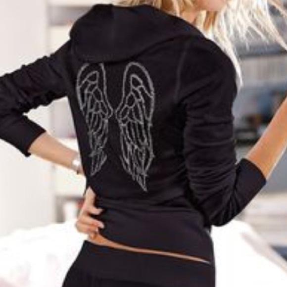 2b34ab9f982cc Victoria's Secret Black Angel Wings Hoodie