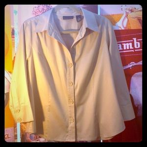 Apostrophe Tops - Apostrophe Stretch shirt size 16, beige