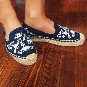 Soludos Shoes - Soludos Embroidered Otomi Platform Smoking Slipper