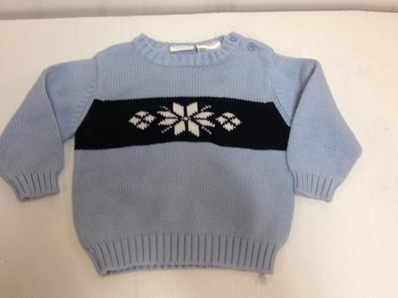 Izod Shirts & Tops - Baby snowflake ski sweater argyle diamond Izod 12m