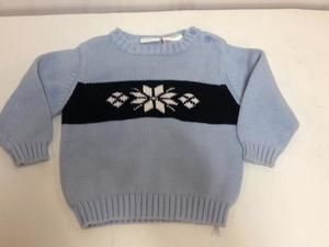 Baby snowflake ski sweater argyle diamond Izod 12m