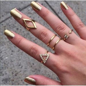 5-Piece Ring Set | Stackable Midi Knuckle Rings