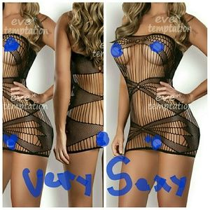 Other - Sexy Fish Net  Lingerie Babydoll baby doll dress p