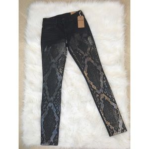 "True Religion ""Halle"" mid rise super skinny jeans"