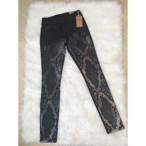 "True Religion ""Halle"" mid rise super skinny jeans"