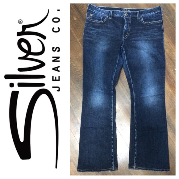 96% off Silver Jeans Denim - •SILVER JEANS• Pioneer Size 16 18