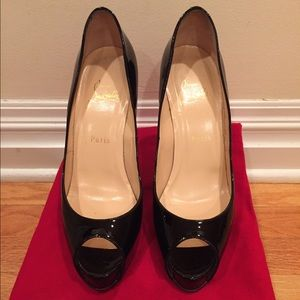 Christian Louboutin Vendome 120 Black Patent