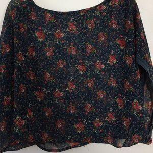 Passport Tops - Passport sheer floral blouse