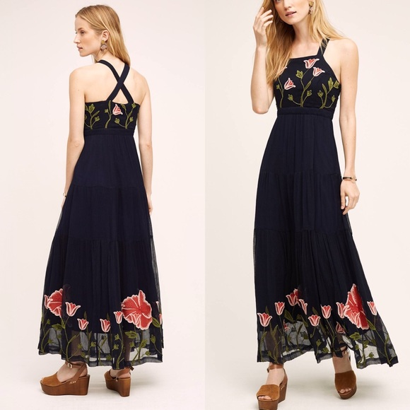 70 off anthropologie dresses skirts anthropologie for Anthropologie mural maxi dress