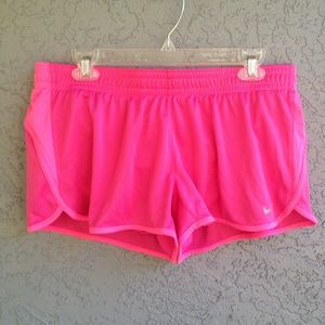 Hot pink Nike dry-fit shorts
