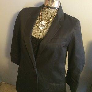 Express 3/4 sleeve line black blazer size 4