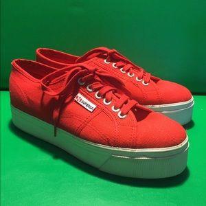 Superga Shoes - Red SUPERGA platform sneakers 41.5 us 10.5