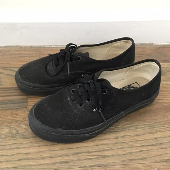 authentic vans black