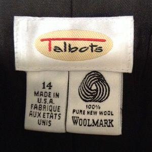 Talbots wool classic blazer
