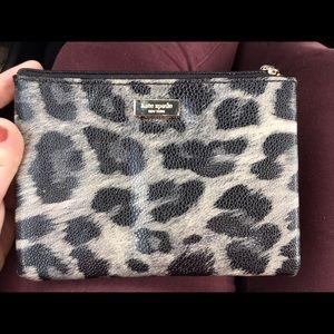 Kate Spade Grey Leopard Wallet