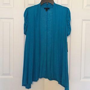 AB Studio Sweaters - 🆕 Turquoise open cardigan